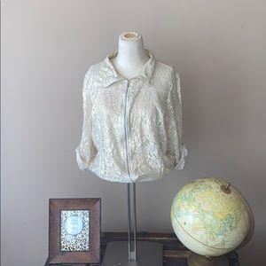 Pinky lace jacket Gold Sz L